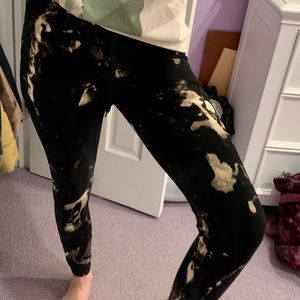 bleach dyed joggers